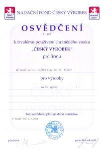 Cesky vyrobek_osvedceni_VPtrend
